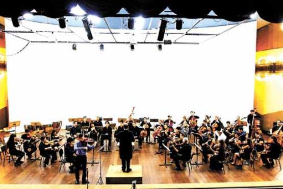 A Orquestra Sinfônica da EMB se apresenta na programação de abertura  (Bruno Pinheiro/Divulgação)