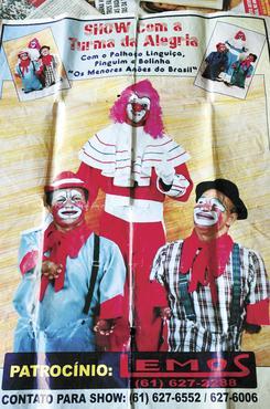 A dupla Bolinha e Pinguim se apresentou no programa Carrossel, da TV Brasília, na extinta TV Capital, e ainda fazia espetáculos de luta de boxe