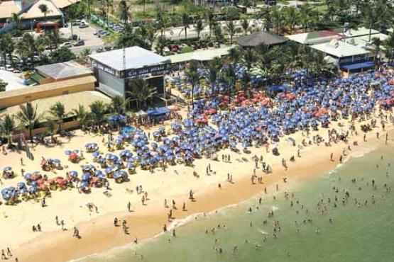 O litoral de cerca de 90km é um dos atrativos de Porto Seguro: as praias mais visitadas ficam na parte sul da cidade, como Mucugê e Taípe (Arquivo/Secretaria de Turismo de Porto Seguro)