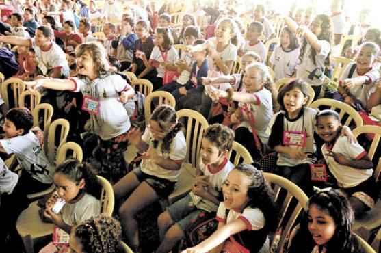 Os sorrisos do público, especialmente o infantil, são a recompensa maior (Iano Andrade/CB/D.A Press)