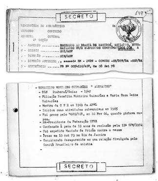 Documento da Aeronáutica sobre desaparecidos admite a prisão de Honestino Guimarães em 1973