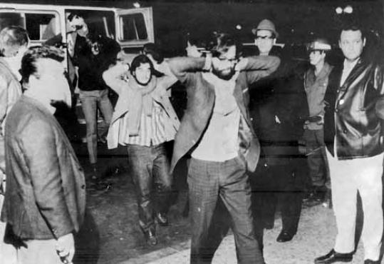 Honestino detido na Universidade de Brasília: ele presidiu a UNE em 1971, ano em que a entidade era clandestina (Arquivo/CB/D.A Press)