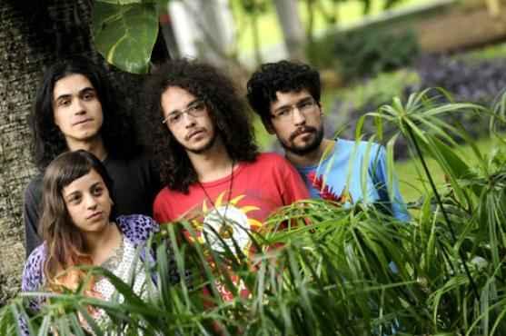 Heron Prado, Augusto Botelho, Daniel Lopes e Gabriela Masson, do coletivo de quadrinhos Batata Frita Murcha     (Carlos Vieira/CB/D.A Press )