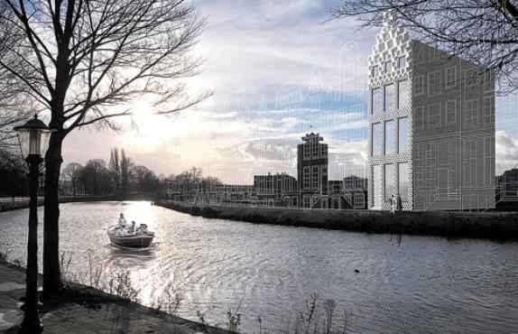 Proje��o feita pelos arquitetos holandeses de como ficar� a casa: m�dulos gigantes (Dus Architects/Divulga��o)