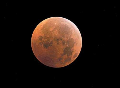 Eclipse total visto de Manassas, na Virgínia (EUA), em 2010: efeito avermelhado  (Karen Bleier/AFP)