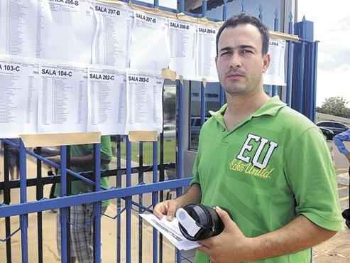 Tiago Alves, policial militar de Goiás, enxergou no certame uma oportunidade de mudar de emprego e se tornar analista jurídico  (Guilherme Araújo/CB/D.A Press)