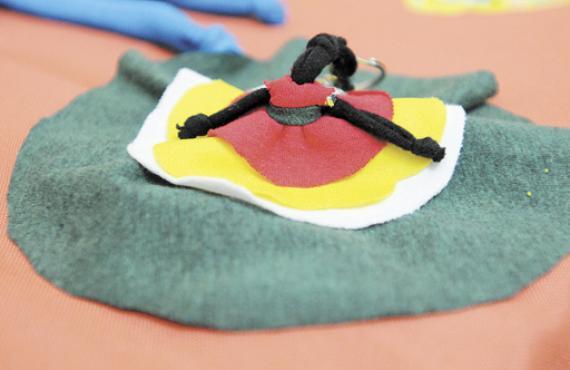 Restos de tecidos dão forma a peças divertidas: basta ter paciência (Iano Andrade/CB/D.A Press)