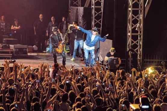 O show do Guns N' Roses, no fim de março, foi uma das atrações em que os assinantes tiveram desconto  (Romulo Juracy/CB/D.A Press - 25/3/14)