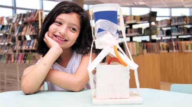 Mariana montou uma casa inspirada na utilização da água da chuva: %u201CVi na casa dos meus parentes uma vez %u201C (Ana Rayssa/Esp. CB/D.A Press)