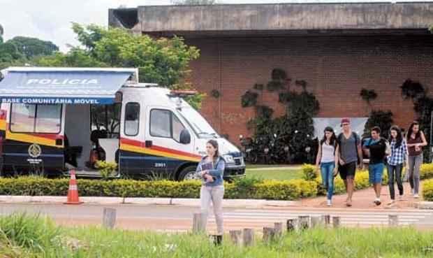 Uma das reclama��es dos alunos � a seguran�a dentro do c�mpus (Antonio Cunha/CB/D.A Press)