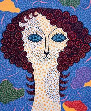 Ilustrações de Yayoi Kusama para o clássico Alice no país das maravilhas (Yayoi Kusama/Divulgação)