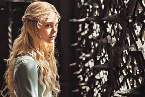 A atriz Elle Fanning: no papel de Aurora (Frank Connor/Disney)
