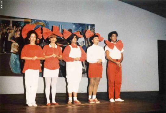 Cássia Eller e Marcelo Saback nos primórdios do Jogo de Cena, na 508