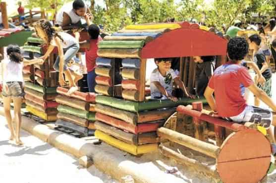 O Parque da Cidade é um dos pontos de diversão para a criançada (Bruno Peres/CB/D.A Press - 12/10/13)