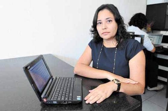 Andreia Rocha  fez duas pós-graduações via internet, cursos bem aceitos pelos empregadores (Carlos Moura/CB/D.A Press  )