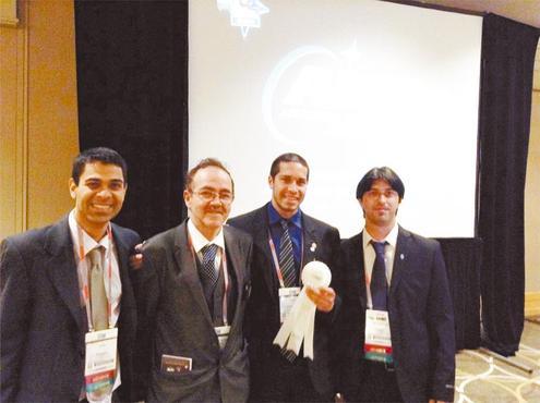 A equipe: Thales Leal, Paulo Assis, Tiago Oliveira e Jaderson Ilídio (Arquivo pessoal)