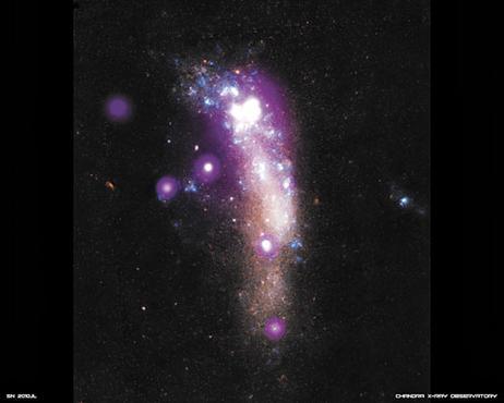 Representação da supernova 2010jl, observada pelos astrônomos durante o estudo