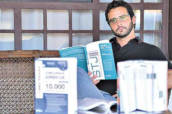 O advogado Ricardo Starling se organizou para estudar sozinho (Gustavo Moreno/CB/D.A Press)