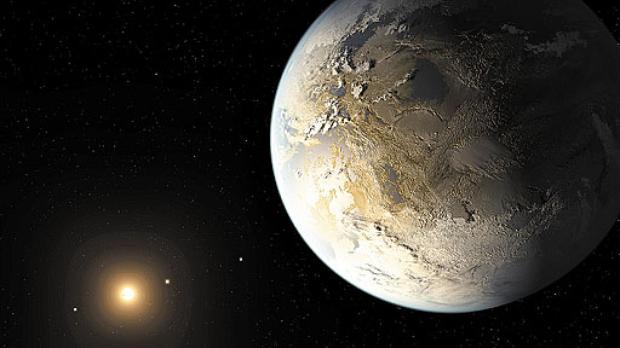 Por enquanto, o Kepler-186f  � o �nico planeta do tamanho  da Terra e em uma zona habit�vel de que se tem not�cia