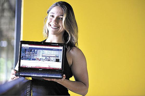 Elisa Cabral: site ajudou a escolher a empresa onde trabalhar (Daniel Ferreira/CB/D.A Press )