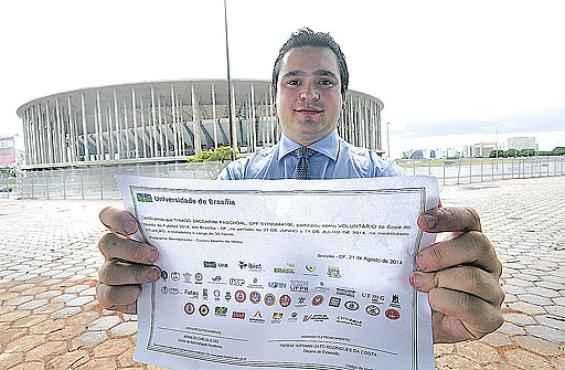 Thiago Zaccarni Paschoal: experiência na Copa do Mundo motivou candidatura para os jogos olímpicos (Ed Alves/CB/D.A Press  )