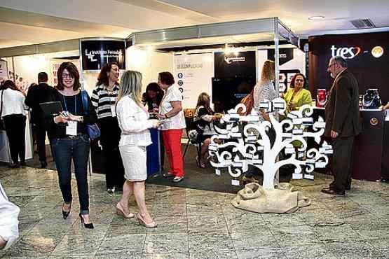 Congresso agrupou estandes de diversas empresas no Parlamundi da Legião da Boa Vontade (Ana Rayssa/Esp. CB/D.A Press)