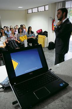 Na Elo Group, os encontros são feitos pela internet e pessoalmente (Carlos Vieira/CB/D.A Press )