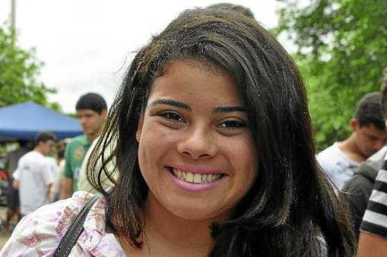 Gabriela Borges achou as provas muito difíceis e criticou o tema da redação (Paula Rafiza/Esp. CB/D.A Press)