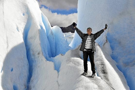 Orlando Santos em El Calafate, na Argentina: viagens para desestressar (Arquivo Pessoal  )