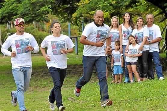 Amigos e parentes participarão da Corrida do Milagre, que será disputada no Taguapark  (Minervino Junior/CB/D.A Press)