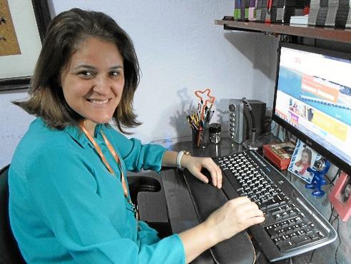 Adriana voltou ao mercado de trabalho graças à opção de teletrabalho (Arquivo Pessoal)