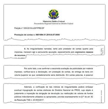 Ministério Público emitiu parecer questionando os métodos do partido e pedindo apuração rápida do caso
