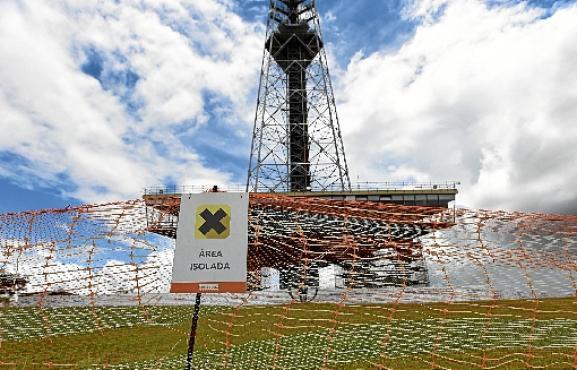 Torre de TV: visitação está interrompida desde janeiro, quando começou obra para recuperar estrutura, com previsão de terminar em agosto (Ed Alves/CB/D.A Press - 8/2/19)