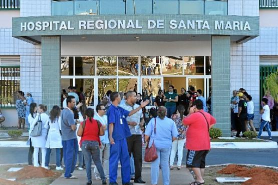 Hospital Regional de Santa Maria: criação de instituto para administrar a instituição e seis UPAs é um dos sete projetos aprovados (Monique Renne/CB/D.A Press - 6/8/13)