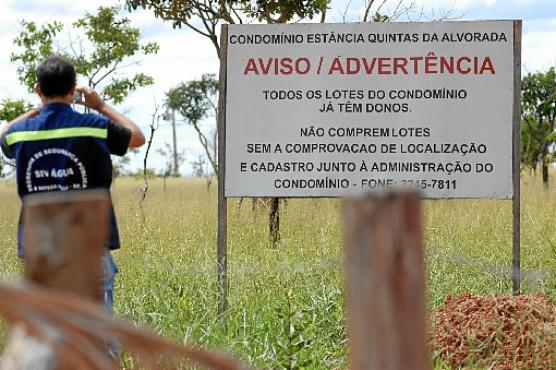 Estância Quintas da Alvorada: derrubadas e plano diretor atual não impediram a ocupação desordenada do condomínio de classe média, no Lago Sul (Carlos Vieira/CB/D.A Press - 20/3/07)