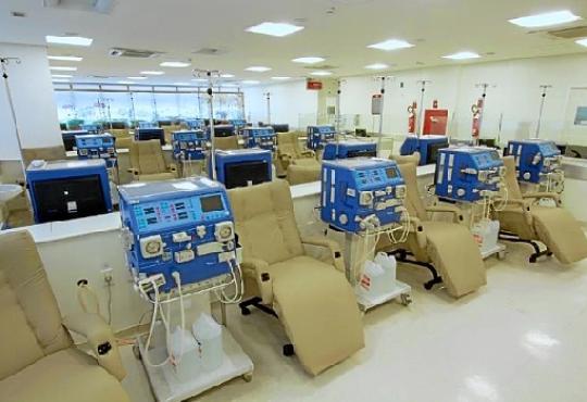 A área de hemodiálise concentra grande número de servidores que administram firmas contratadas pelo GDF (TCDF/Reprodução)
