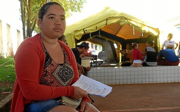 Tiala Ribeiro entregou o resultado do exame de sangue (Ed Alves/CB/D.A Press)