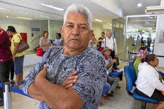 Antônio Farias afirma que o INSS não faz nada para ajudar os aposentados contra os bancos (Vinícius Cardoso Vieira/CB/D.A Press)