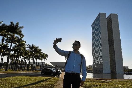 Cenário do Congresso é o preferido para as fotos  (Minervino Júnior/CB/DA.Press)