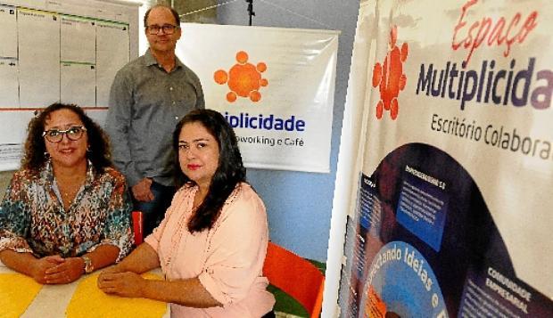Cristiane (E), Crislene e Alexandre investem em modelo de apoio a novos negócios, no Guará (Carlos Vieira/CB/D.A Press - 3/10/19)