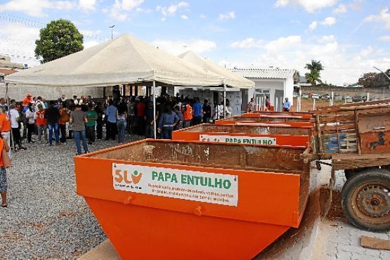 O GDF espalhará 50 papa-entulhos no DF para receber grandes resíduos (Vinicius Cardoso Vieira/Esp. CB/D.A Press - 25/1/19)