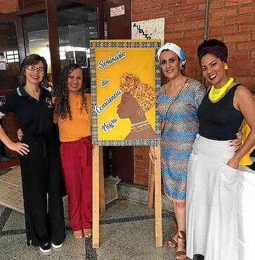 Professores discutiram a questão da cultura afro-brasileira dentro das salas de aula (Joelma Bomfim/SINPRO-DF)