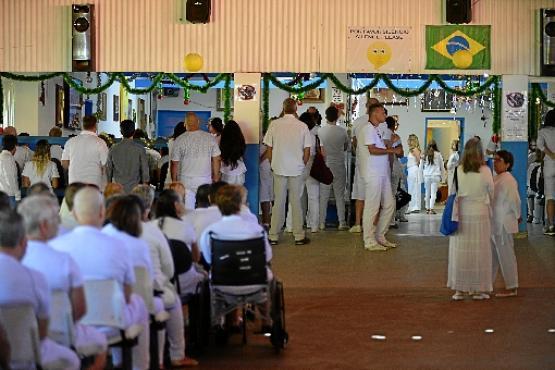 Espera pelos atendimentos em 12 de dezembro de 2018, última vez que o médium esteve no local (Marcelo Ferreira/CB/D.A Press - 12/12/18)