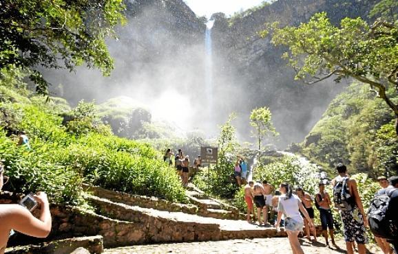 O Salto do Itiquira abrirá das 9h às 17h, inclusive nos feriados (Marcelo Ferreira/CB/D.A Press - 8/1/17)