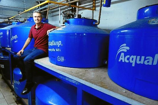 Francisco Emílio Marinho, dono do Beirute, investe em reaproveitamento de água: economia (Carlos Vieira/CB/D.A Press)
