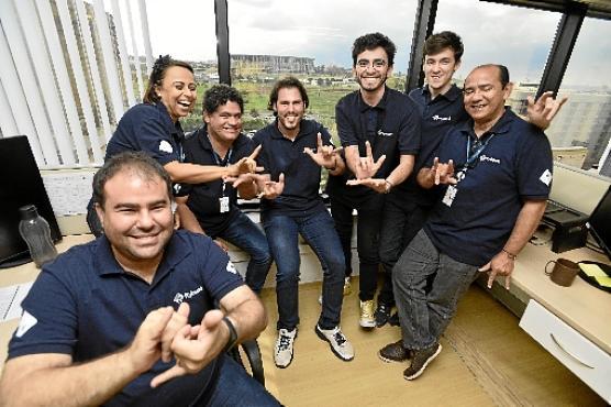 Equipe Rybená em Brasília, onde surgiu o aplicativo (Minervino Júnior/CB/D.A Press)