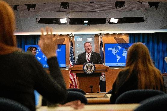 O chefe da diplomacia dos Estados Unidos, Mike Pompeo: