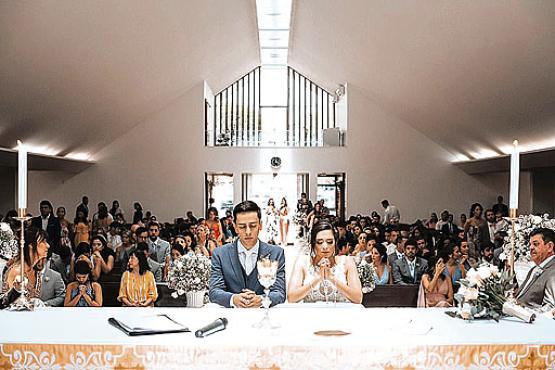 Rafael Gaia da Silva casou-se há oito meses na igreja que frequenta há 20 anos (Micah Abe/Divulgação)