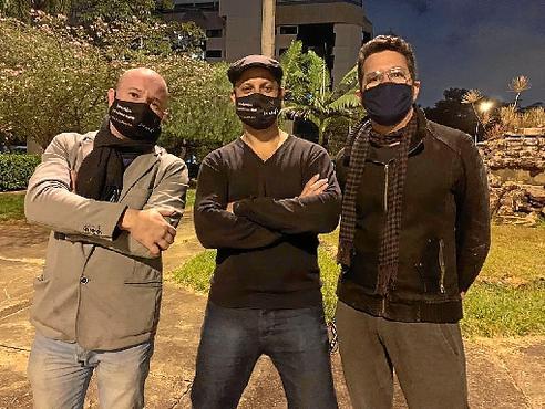 Misael Baros, Alexander Raichenok  e Tico de Moraes: o trio do Varanda Musical (VarandaMusical/Divulgação)