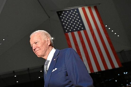 O democrata Joe Biden: estratégia discreta e sóbria (Mandel Ngan/AFP)